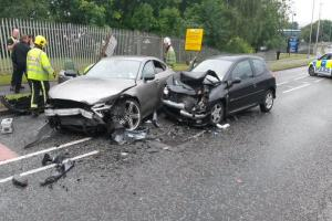 UPDATE - Two cars involved in head-on collision in Kingswinford