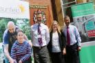 Georgina Forrest, partnership development manager at Sunfield, with firm directors Dean Grove and Lex Allan.