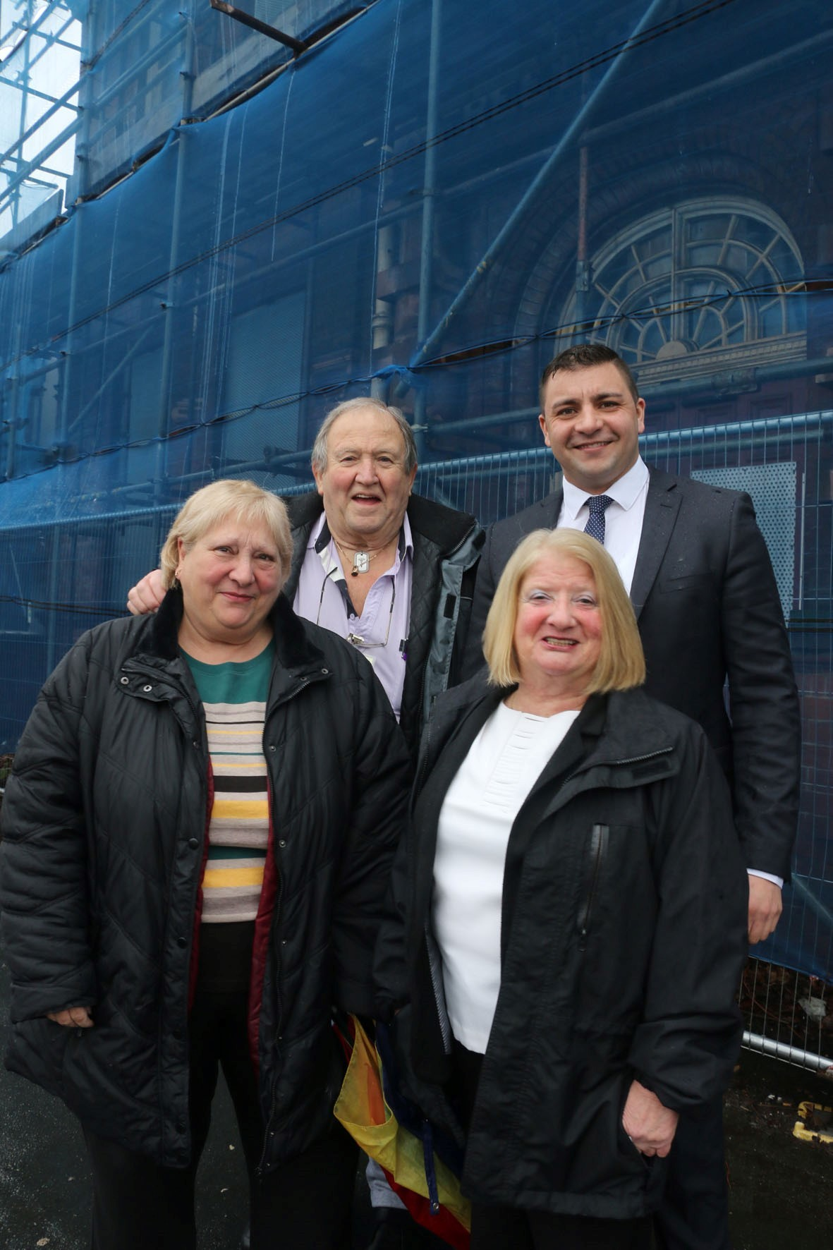 Outside Woodside Library back l-r Colin Day, chairman of Woodside and Holly Hall Tenants and Residents Association and Cllr Qadar Zada with front l-r Cllrs Elaine Taylor and Christine Perks (56070615)