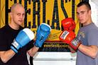 Ready to rumble: Martin Gordon (left) and Scott Evans (right) will be back in the ring next week.