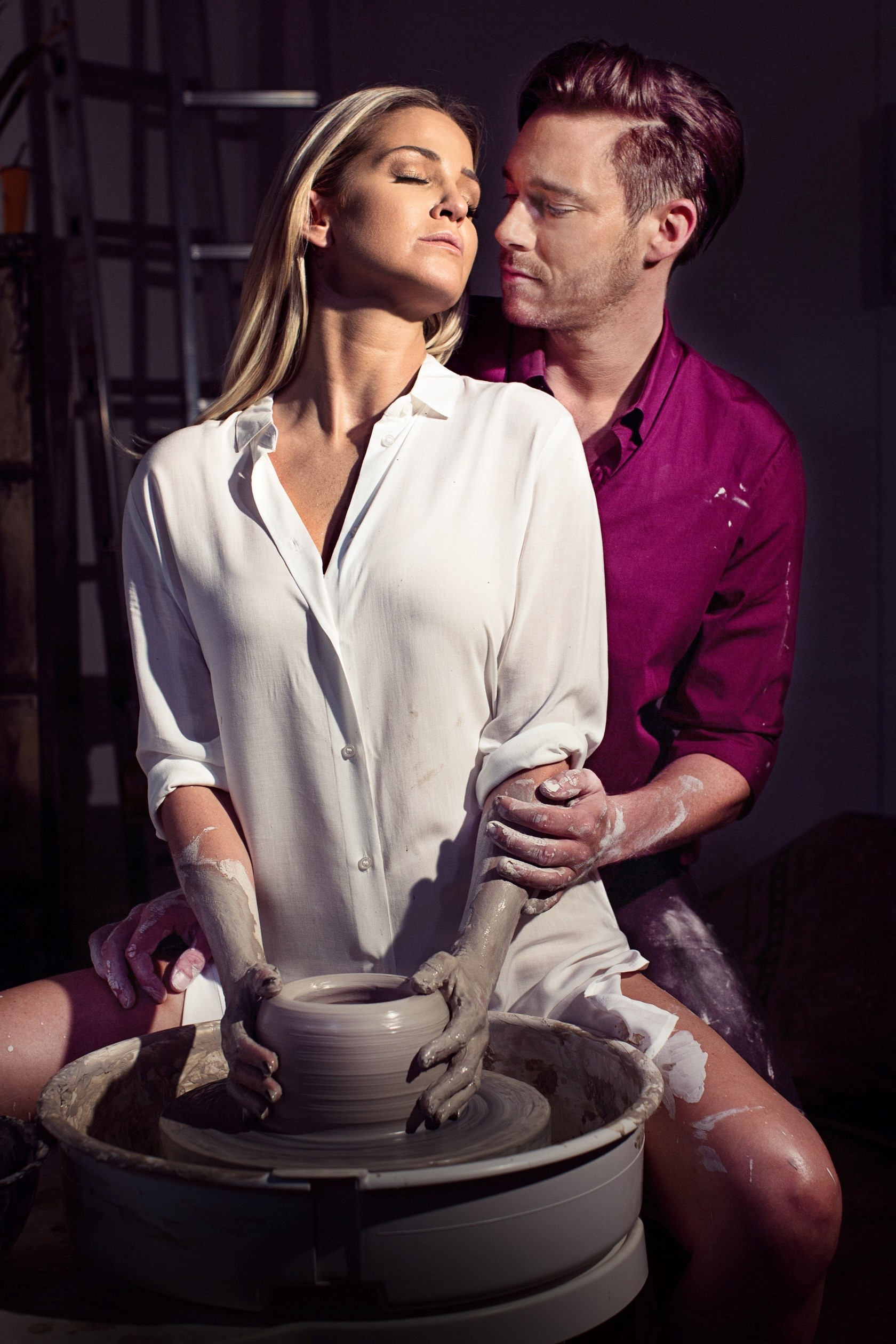 Sarah Harding and Andy Moss will star as Molly and Sam at Birmingham's New Alexandra Theatre's production of Ghost The Musical. Photo: Ambassador Theatre Group