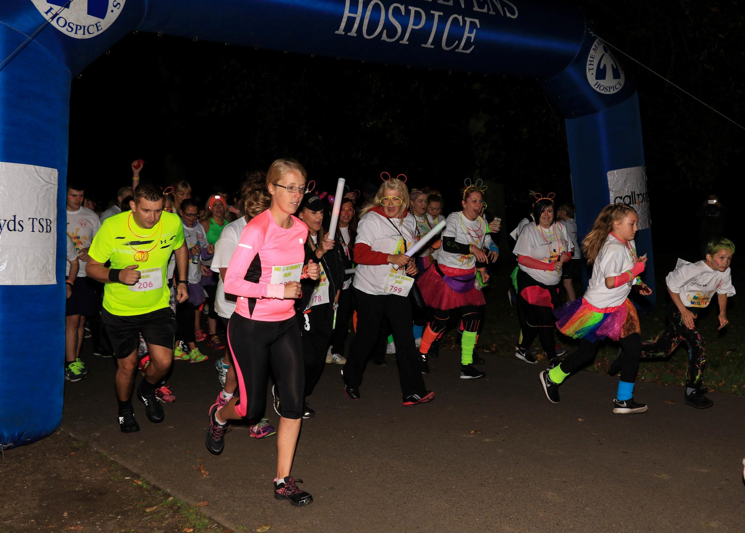 Mary Stevens Hospice's first ever Neon Night saw over 1,200 people raise more than £21,500 for the Hagley Road charity. Photo: Mary Stevens Hospice