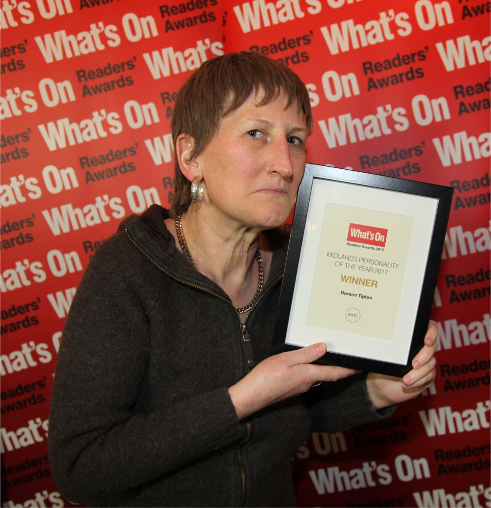 Doreen Tipton with her latest award