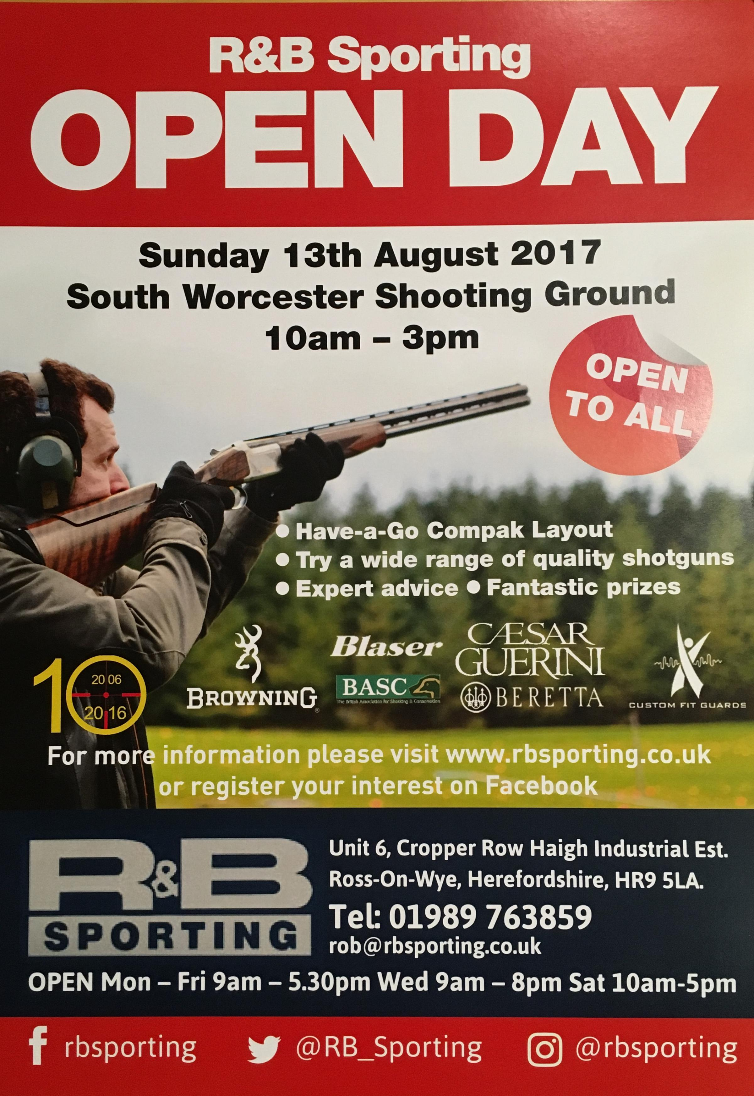 R&B Sporting 10th Anniversary Open Day