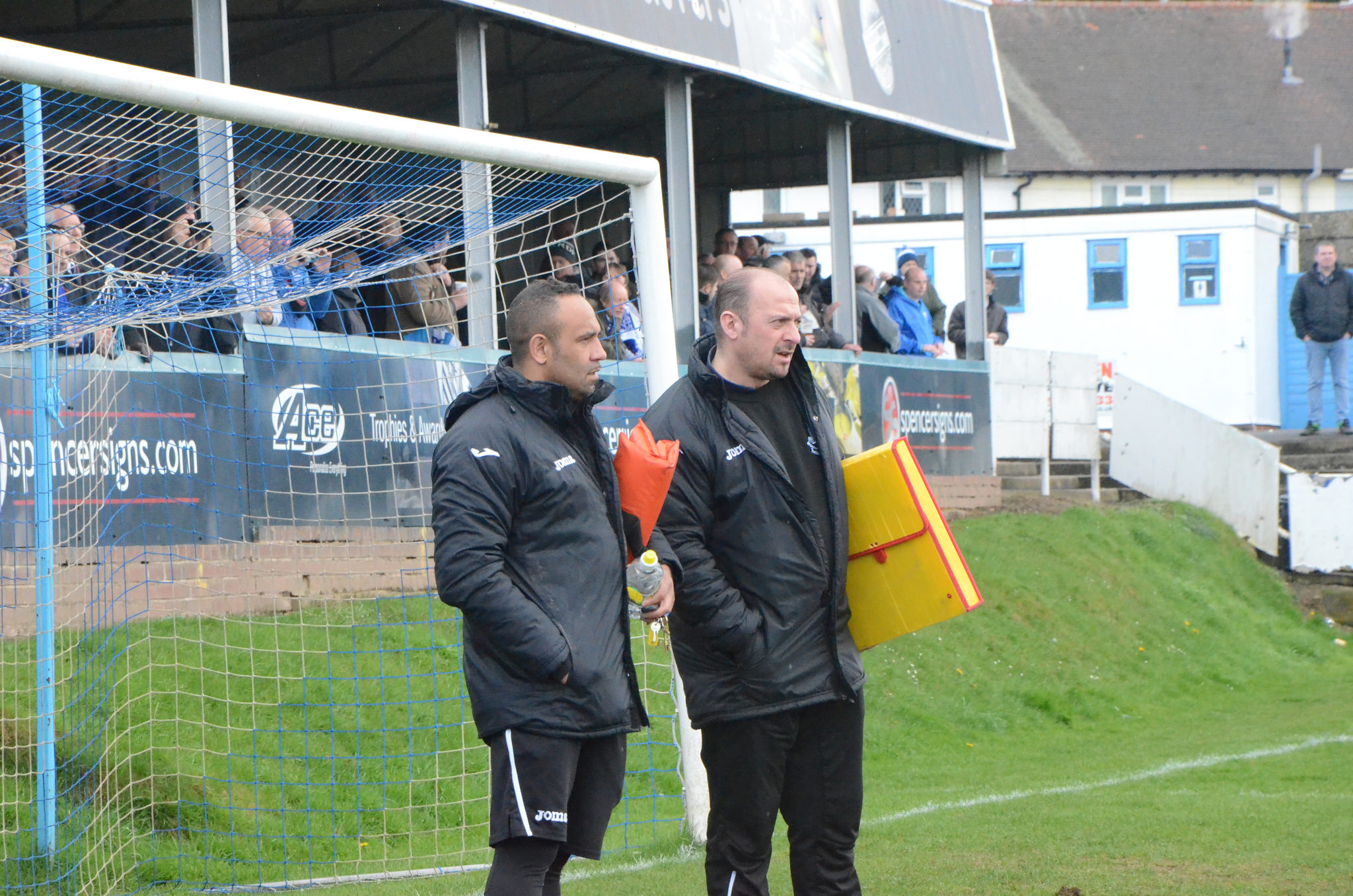 Yeltz assistant Matt Clarke (left) with manager John Hill. Photo by CRH Photography