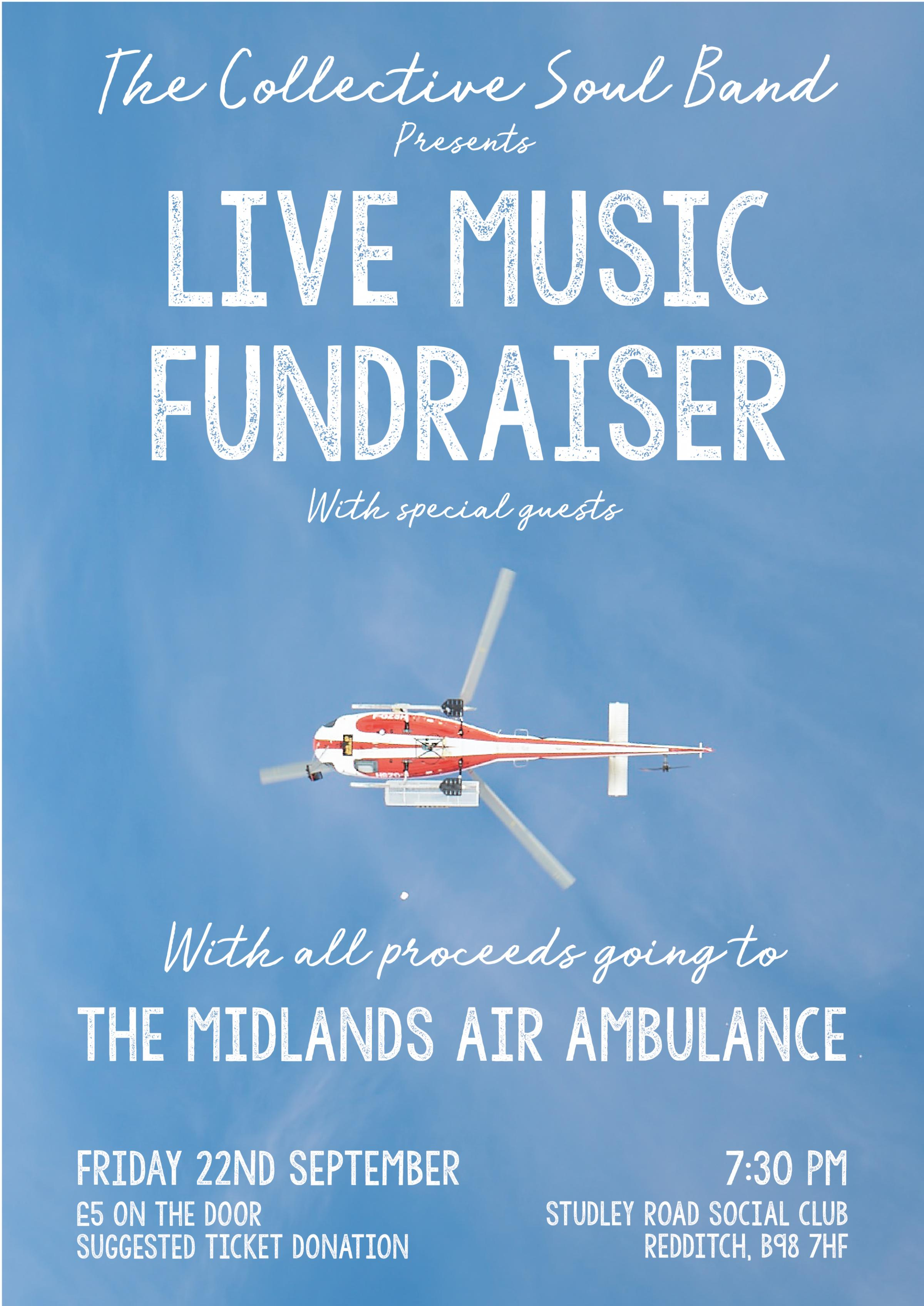 Live Music Fundraiser for the Midlands Air Ambulance