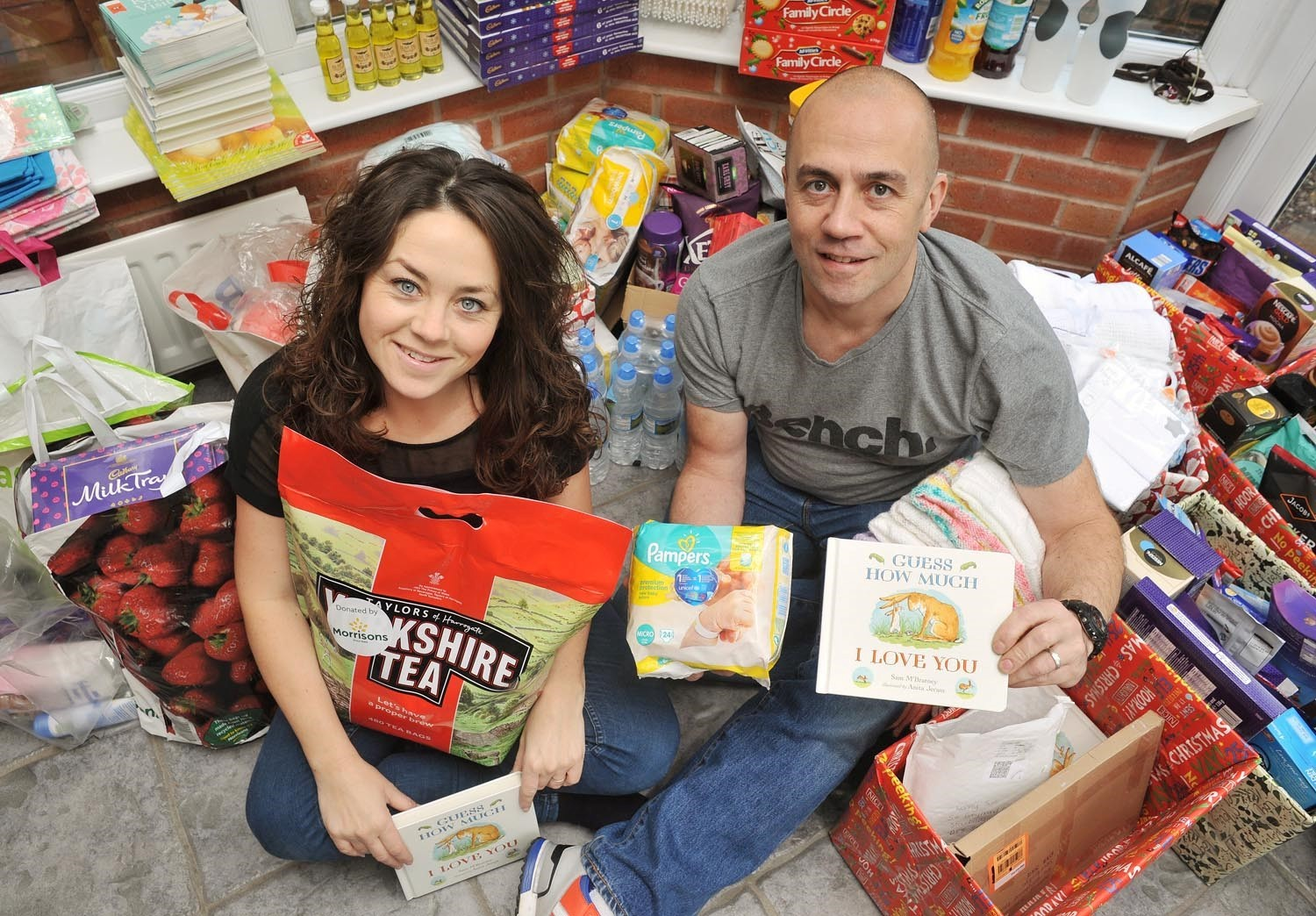 Jennie and Wayne Little with some of the donations received so far