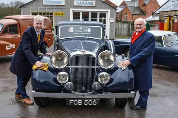 Lowell Williams, chairman of the Black Country Living Museum Trust with Alexander Patrick, trustee of The Patrick Foundation