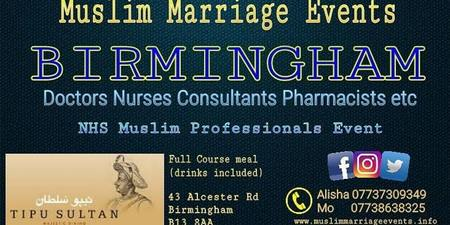 MUSLIM MARRIAGE EVENT - NHS Medical Professionals Event