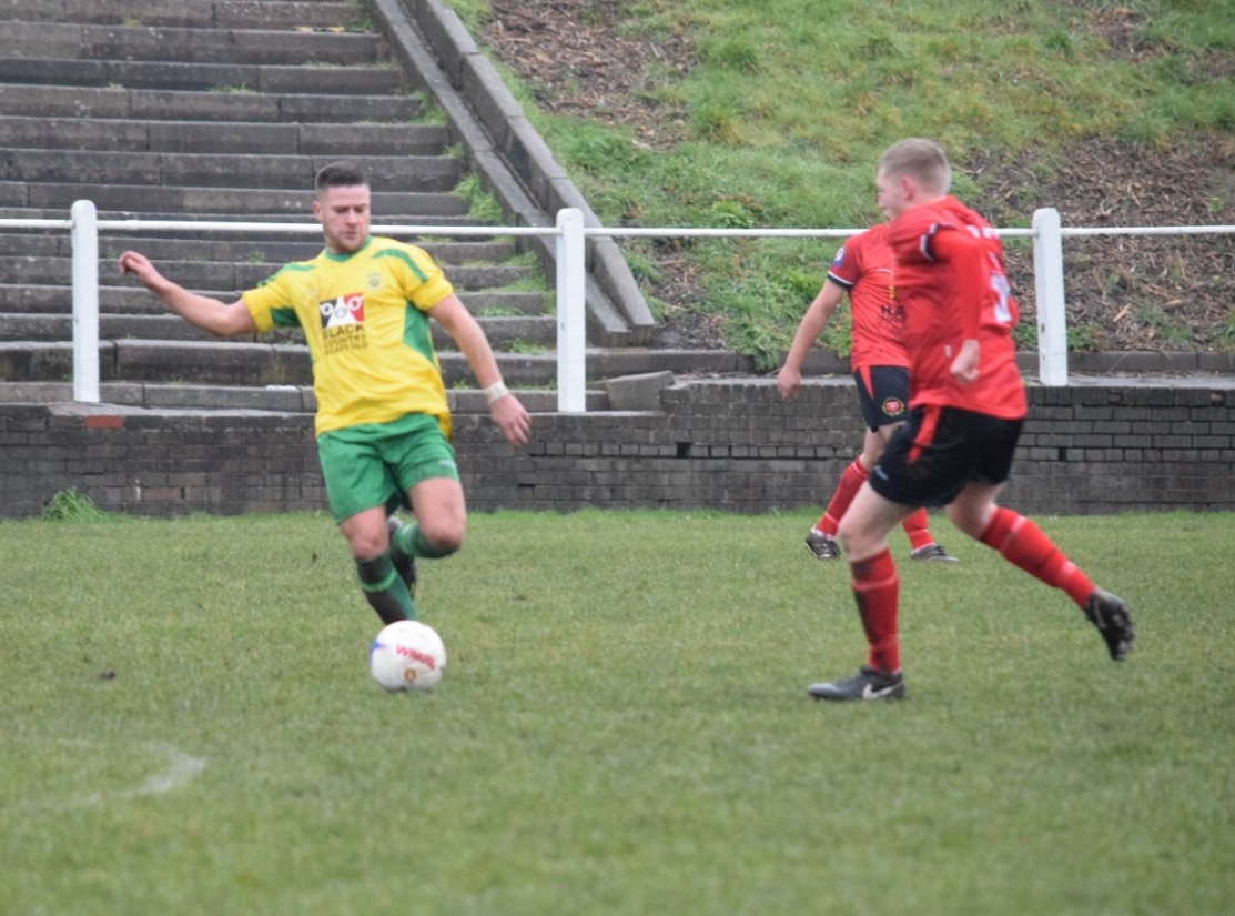 Liam Morris in action for Gornal. Photo by Lianne Shakespeare