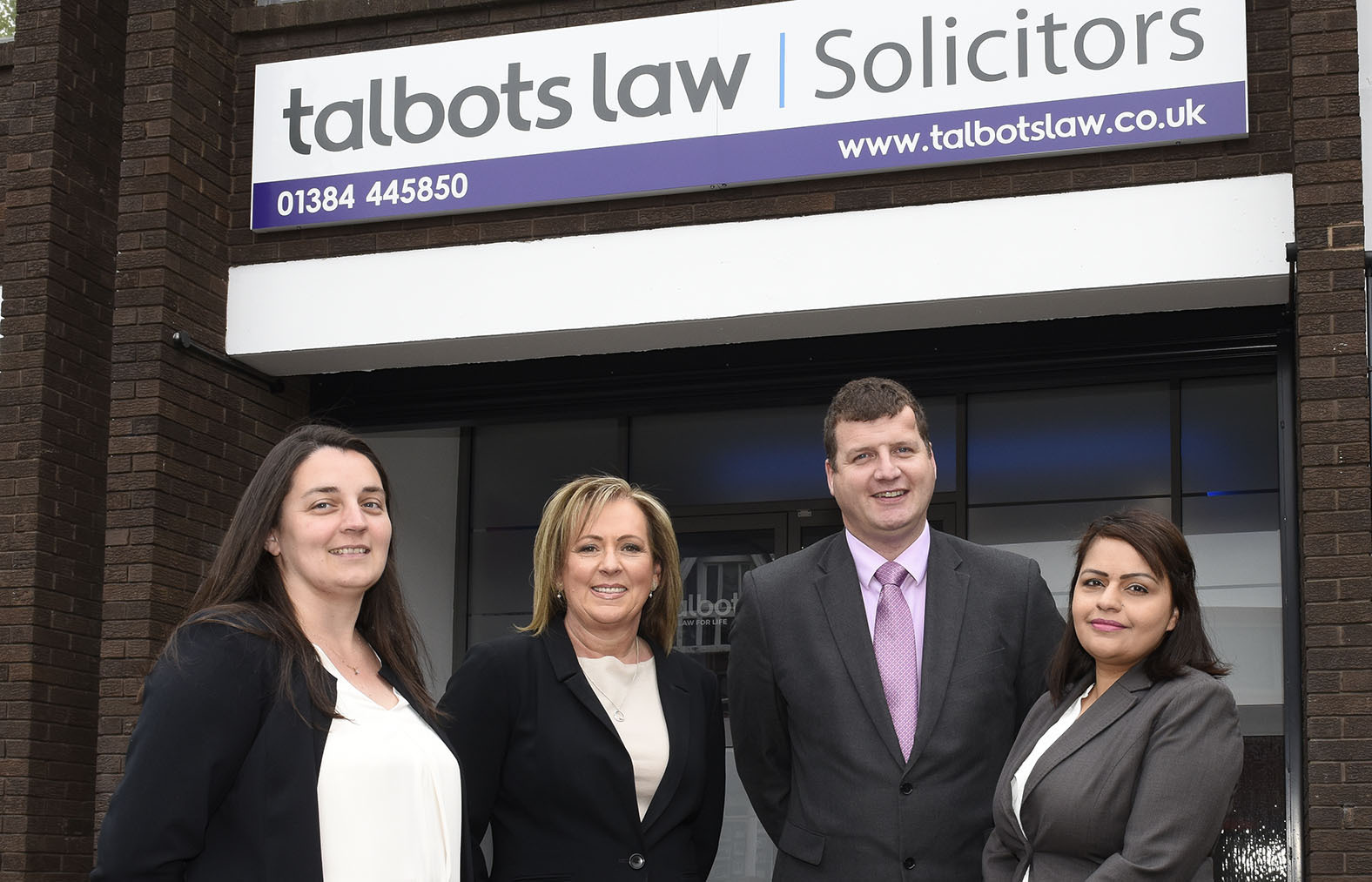 Talbots Law's Claire Cooper, Mary Mocklow, Ian Bond and Jagdip Bains.