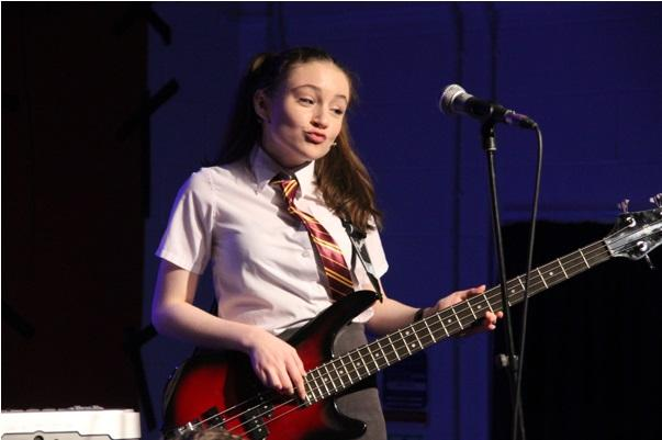 Year eight pupil Madison McDonald-Small in School of Rock