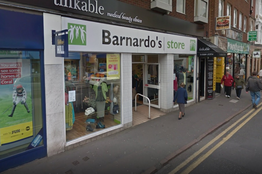 Volunteers are needed at Barnardo's stores across the Black Country, including Stourbridge's in High Street. Pic: Google Street