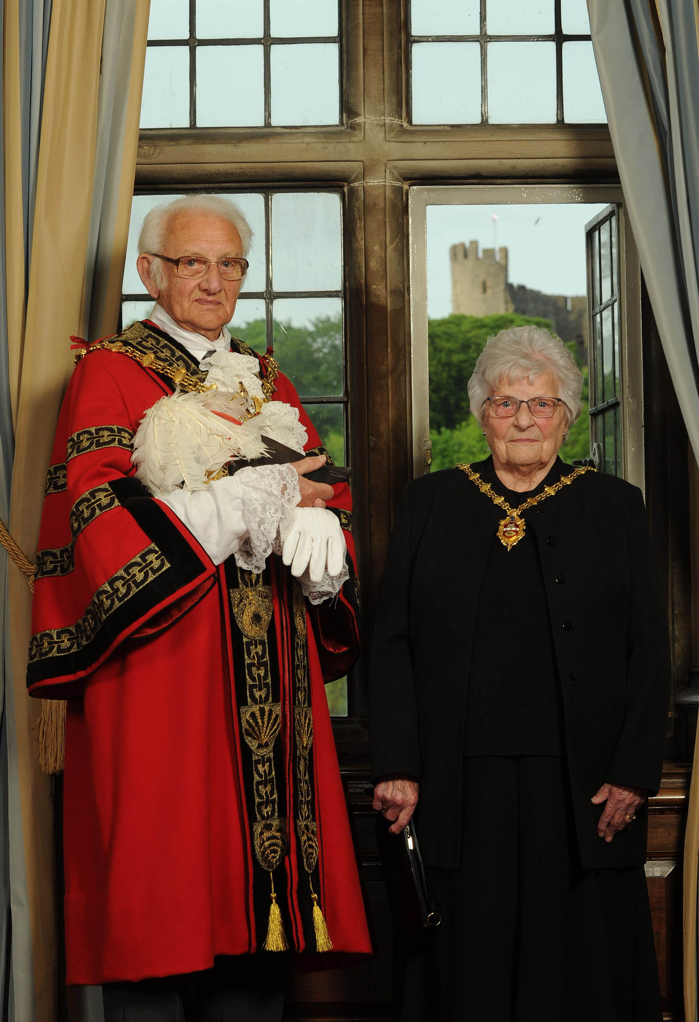 New Mayor and Mayoress of Dudley, Cllr Alan Taylor and his wife Winifred. Photo: Dudley MBC