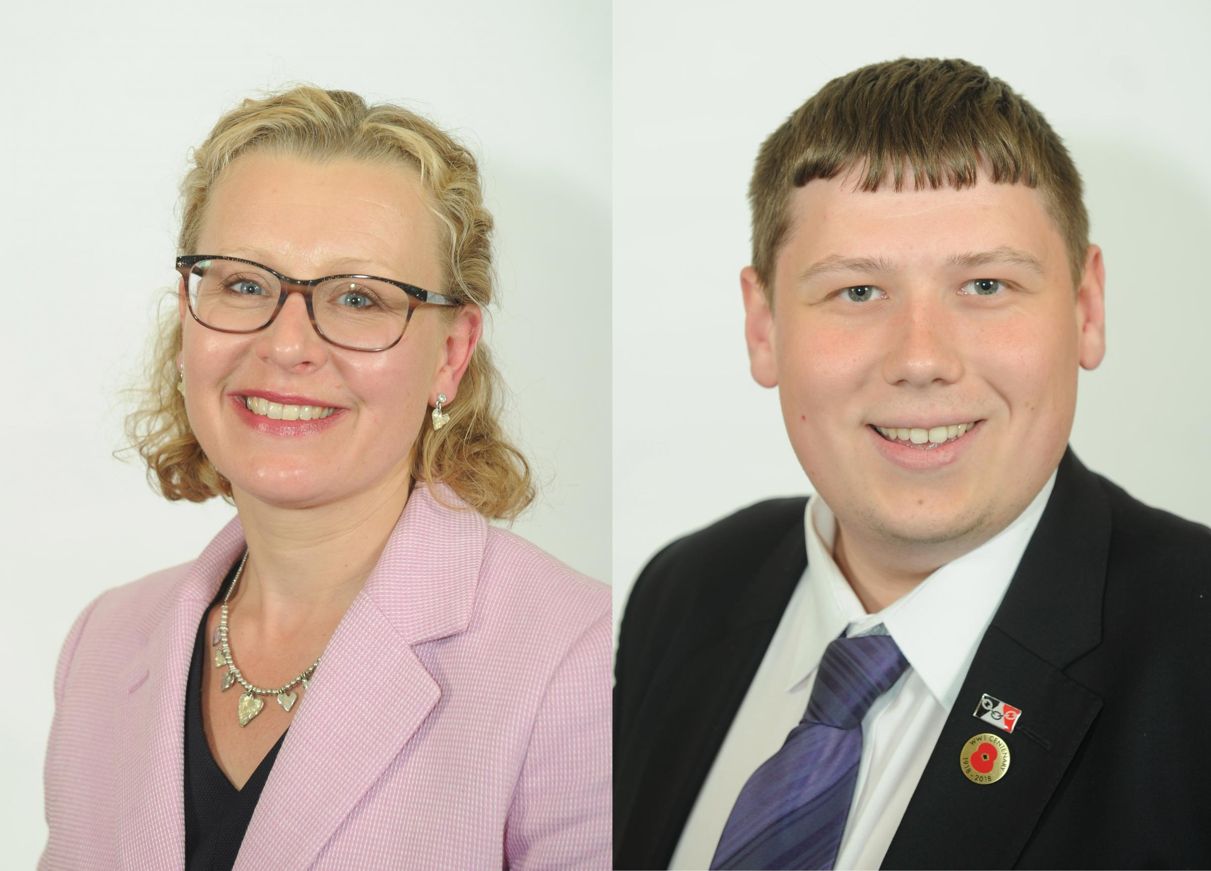 New Dudley Council cabinet members Cllrs Ruth Buttery and Simon Phipps. Photo: Dudley MBC