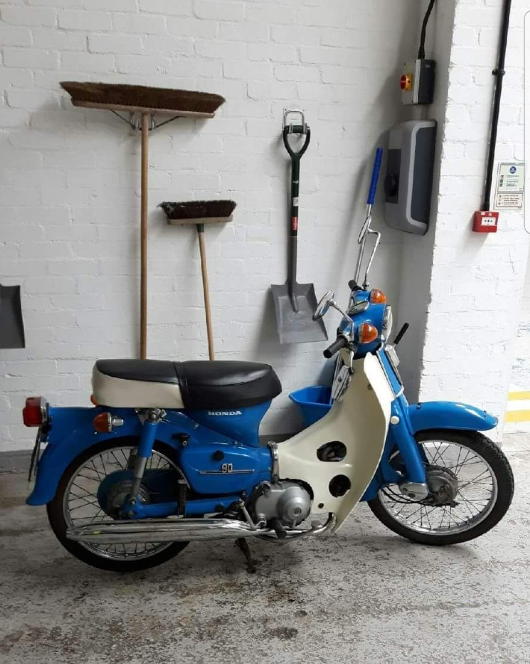 The Honda C90 scooter that was stolen.