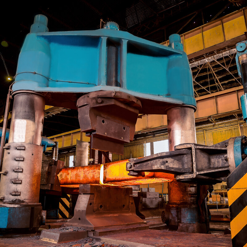 Somers Forge's 4,000 tonne press.
