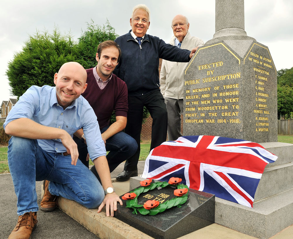 Cllrs Adam Aston and Keiran Casey with Harry Brookes and Don Davies of Woodsetton Charitable Trust. Photo: Phil Loach
