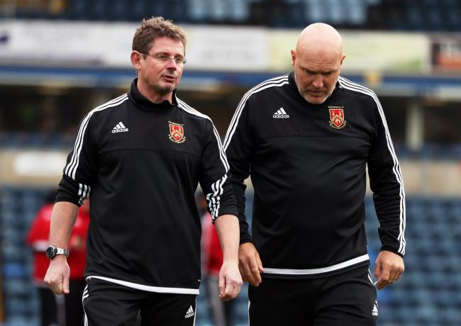 Stourbridge manager Gary Hackett (left) with assistant Jon Ford. Photo: PA Images