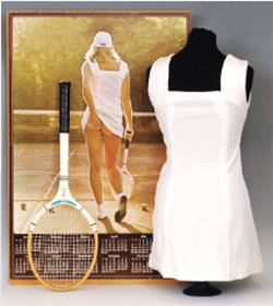 Dudley News: Fieldings - iconic Athena poster tennis dress and racket for £15,500