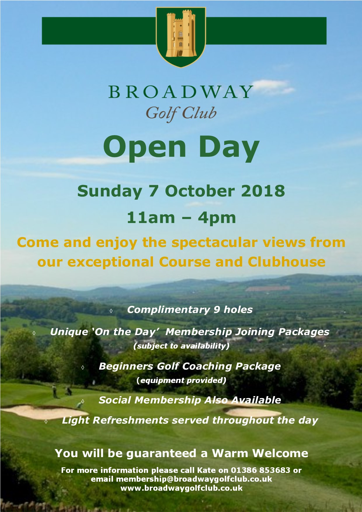 Broadway Golf Club Open Day