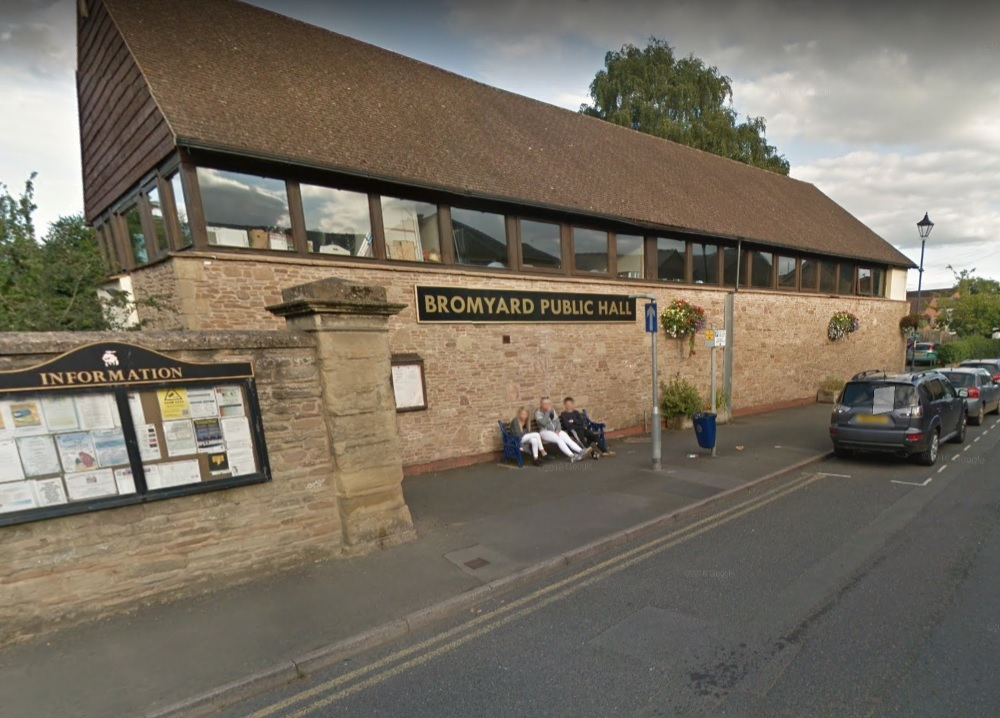 The slimming classes takes place at Bromyard Public Hall. Photo: Google