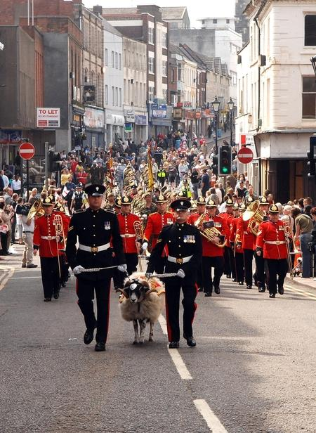 The Mercian Regiment celebrated the Freedom of the Borough  by marching through Dudley.