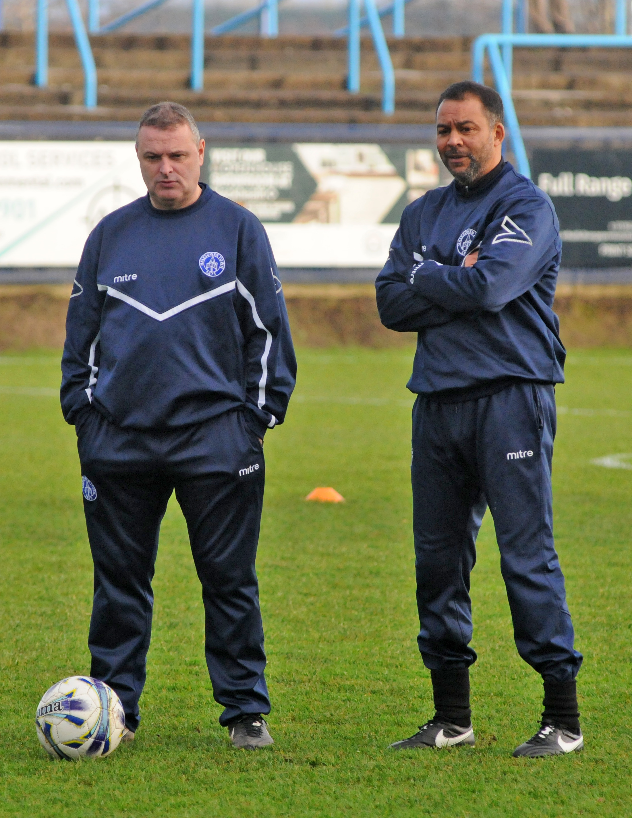 Yeltz boss Rob Smith, left, with assistant Larry Chambers.