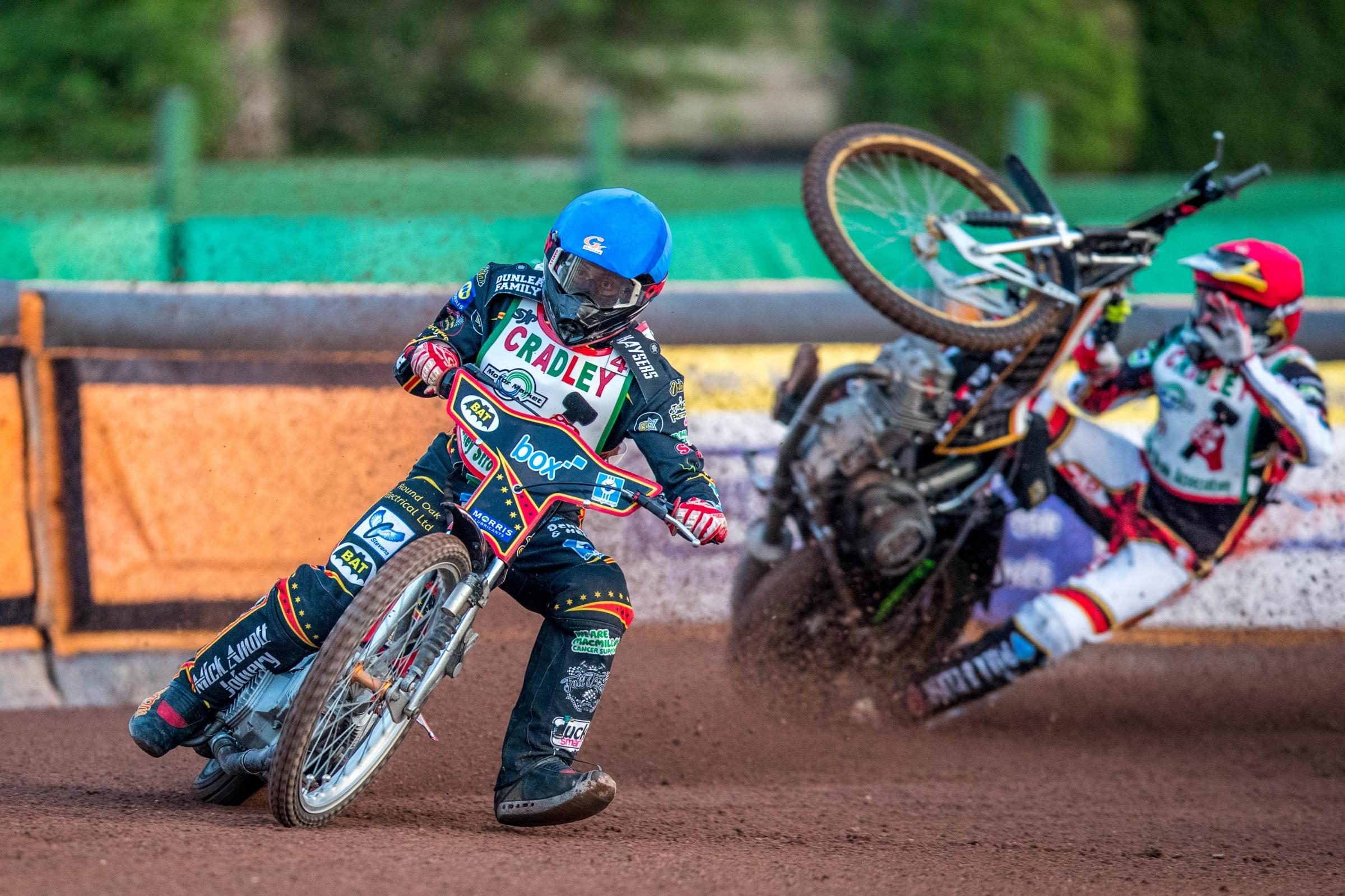 Luke Harris leads the way during his previous spell with the Heathens. Photo: Steve Feeney.