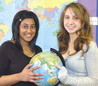 Bishop Milner School pupils Naadia Saleem and Lara Langston have won Prime Minister's Global Fellowships.