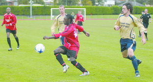 Player of the season Marvin Nisbett is among a number of promising youngsters on Dudley Town's books.