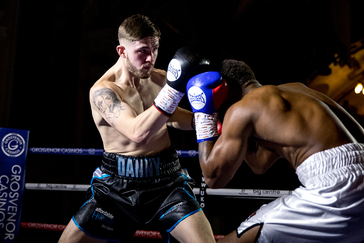 Danny Ball in action in Walsall. Photo: Manjit Narotra/MSN Images/BCB Promotions