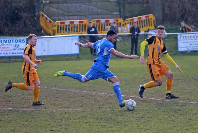 Geoff Hill strikes on for Lye against Swifts
