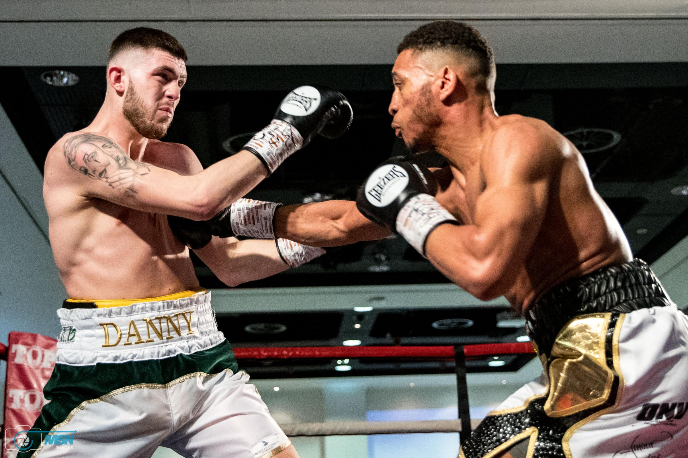 Danny Ball's Midlands title battle with Kaisee Benjamin ends in a draw. Photo: Manjit Narotra / MSN Images