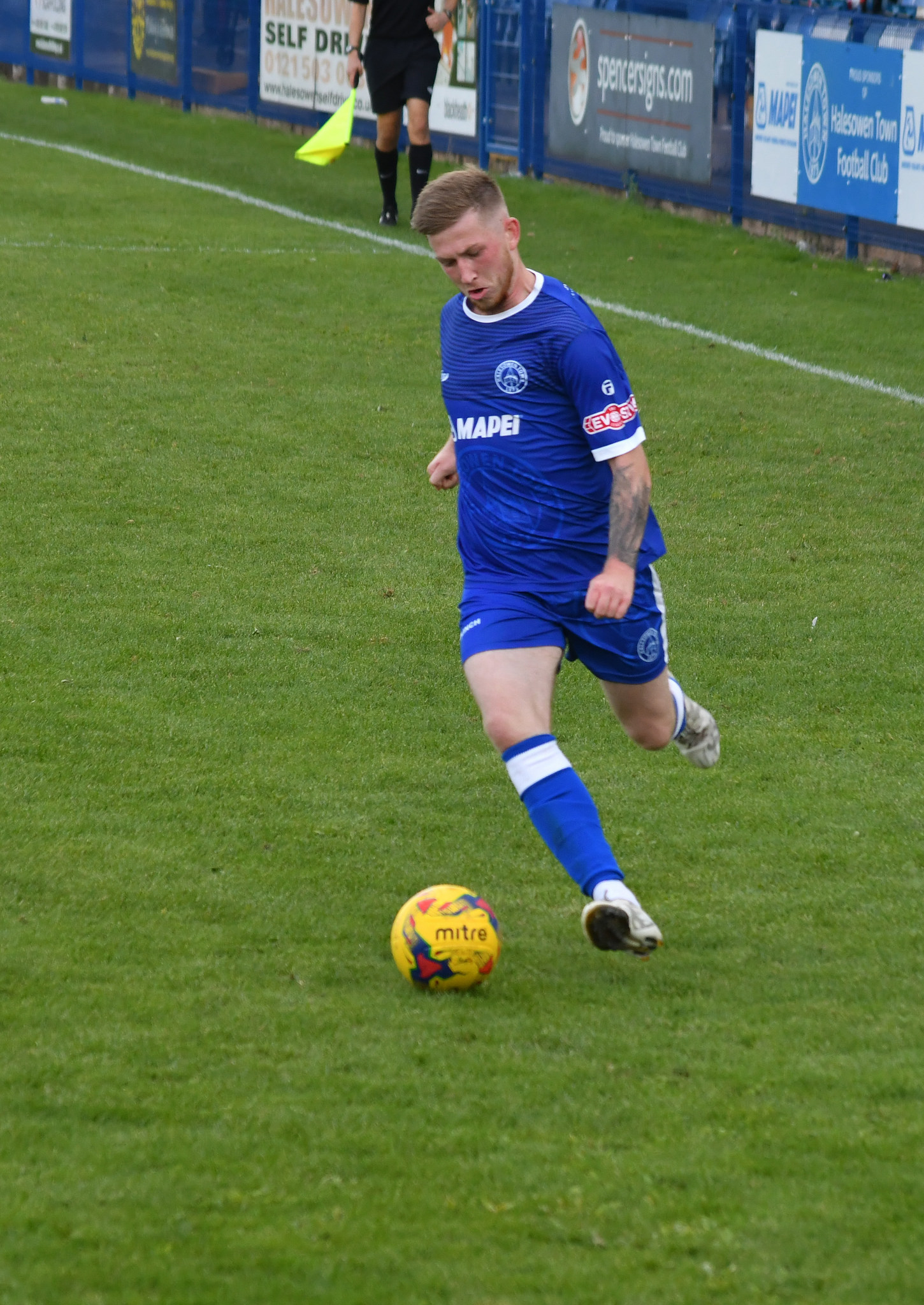Jack Kelly will have a calf injury assessed this week. Photo courtesy of Halesowen Town.