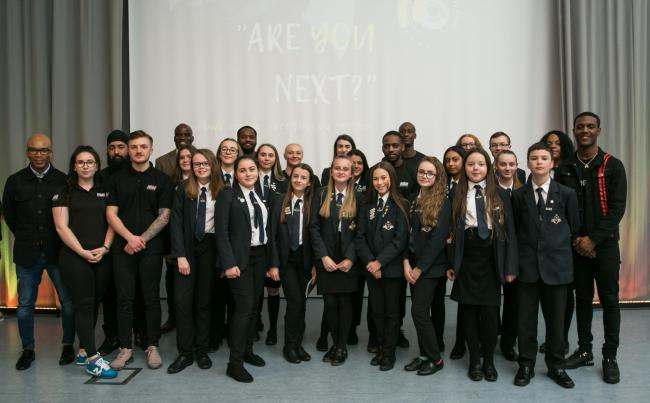 St Michael's C of E High School held an event to focus on ways to tackle youth violence and knife crime.