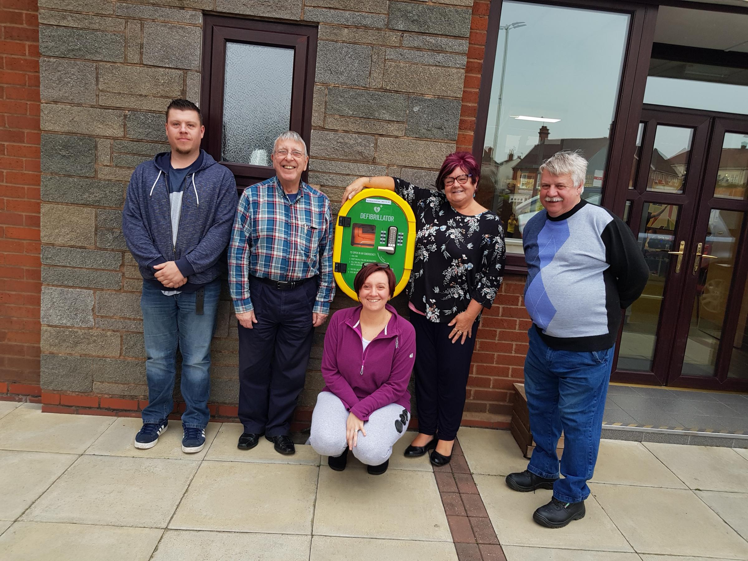 Left to right: John Jones, Bill Caldwell, Becki Edwards, Christine Bate and Paul Greenaway, members of the Gornal Together committee.