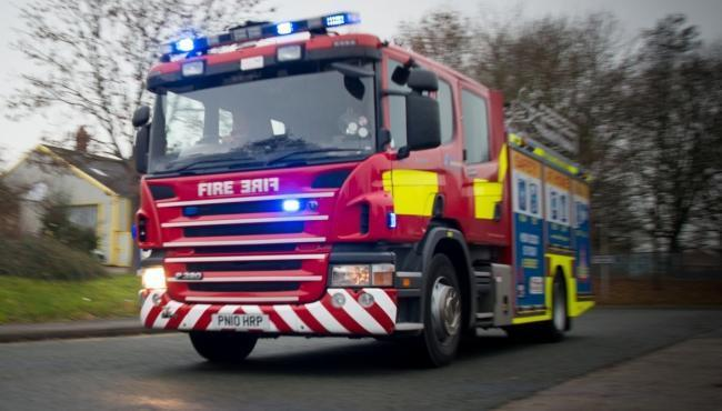 Traffic held on all lanes on M5 after car fire