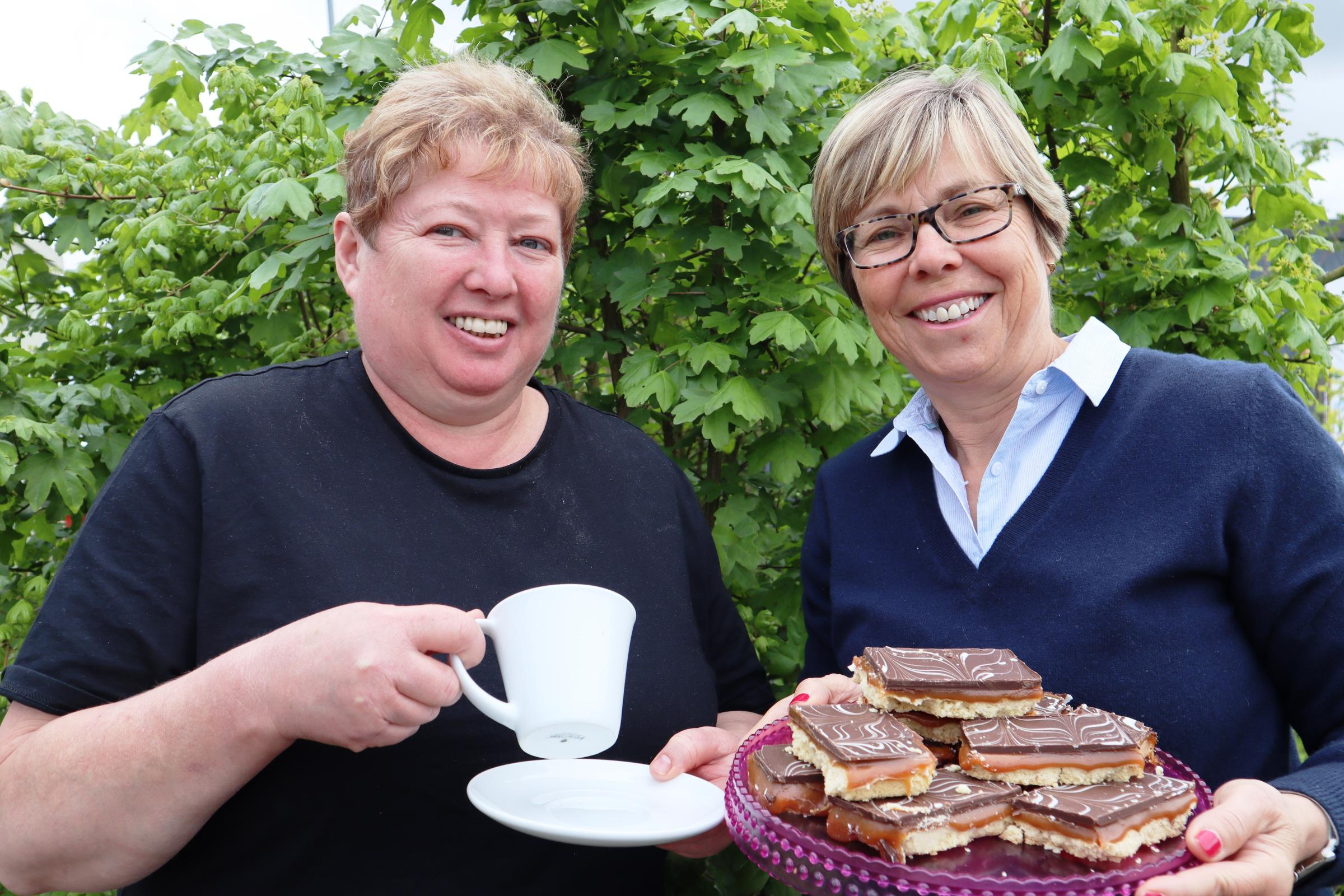 Chef Lynn Horton with Wyre Forest District Council's community development manager Lesley Fox