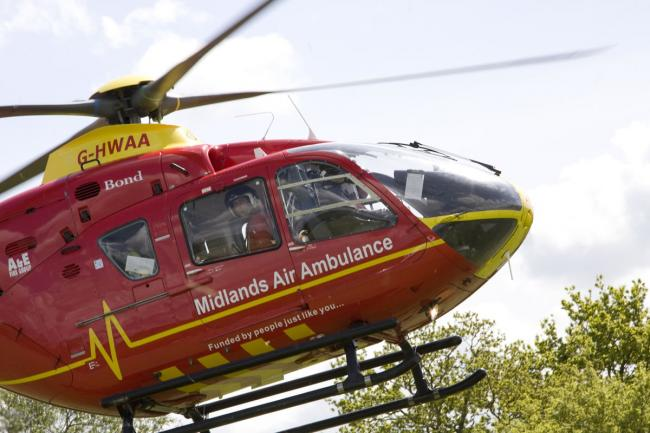 The Midlands Air Ambulance from Cosford was called to a medical emergency in Kidderminster