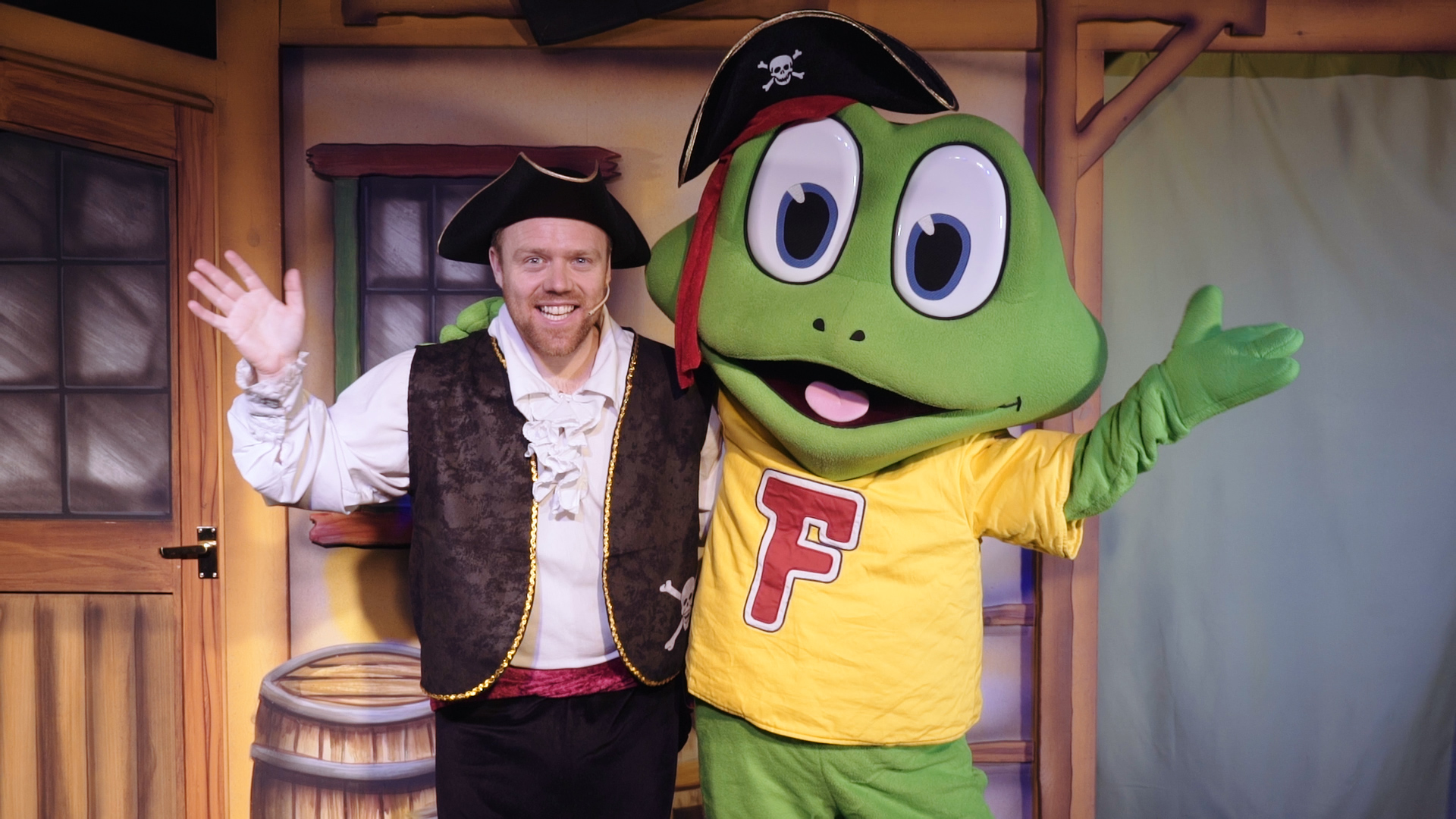 Set sail with Captain Freddo in a brand new live show at Cadbury World