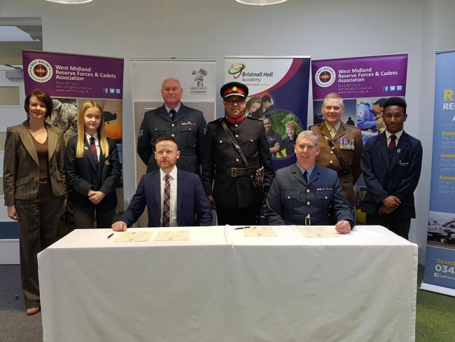 Bristnall Hall Academy has signed the Armed Forces Covenant.