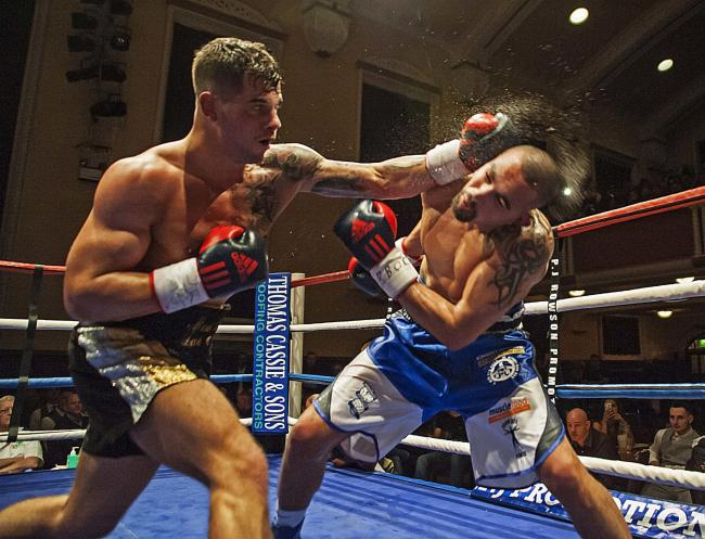 Ryan Aston when he fought for the Midlands title against Craig Cunningham