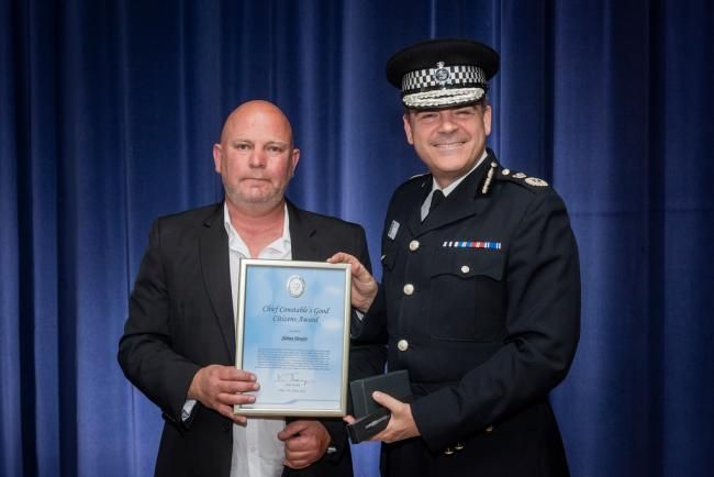 Adrian Henefer also received a Good Citizen Award from West Midlands Police Chief Constable Dave Thompson.